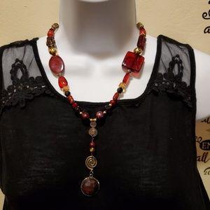 Women's fashion repurposed necklace